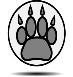 Foot print animal vector image