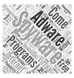 Free spyware adware program Word Cloud Concept vector