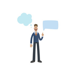funny business man character with empty speech vector image