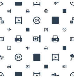 Glossy icons pattern seamless white background vector
