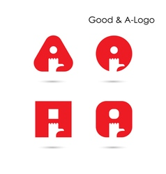 Good Logo and A- letter icon abstract logo design vector