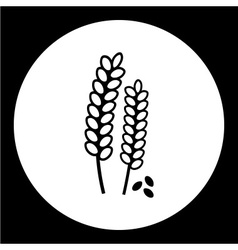 Grain corn simple isolated black icon eps10 vector