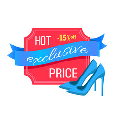 hot exclusive price shoes vector image