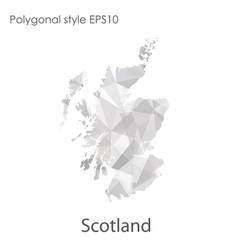 Isolated icon scotland map polygonal geometric vector