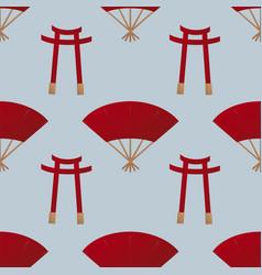 japan gate seamless pattern vector image