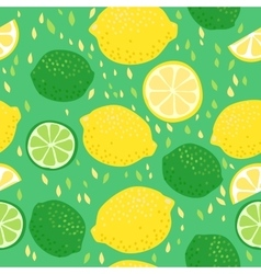 Lemons and Limes Seamless Pattern vector