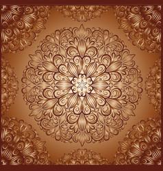 mandala pattern in vintage style vector image