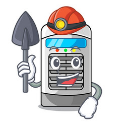 Miner air cooler isolated with cartoon vector