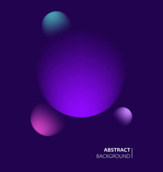 modern abstract cover with planets outer space vector image