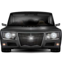 Modern dark silver car with retro design elements vector
