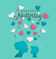 Mother day german card for family holiday love vector