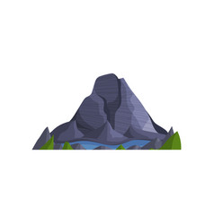 mountain peak and lake outdoor design element vector image