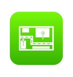 navigator icon digital green vector image