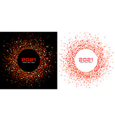 new year 2021 night background party christmas vector image