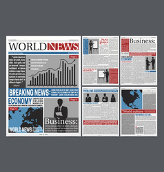 newspaper open realistic template design vector image