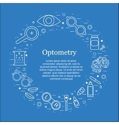 Optometry round concept Optician vector
