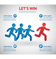 People running for leader vector image