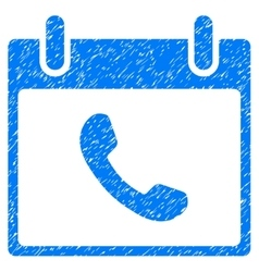 Phone Calendar Day Grainy Texture Icon vector
