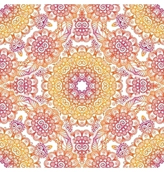 Pink and orange lacy seamless pattern vector image