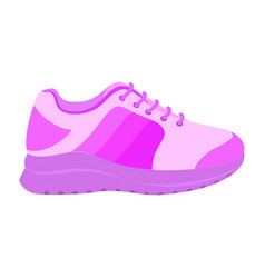 pink sport shoe icon flat style vector image