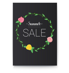 poster of summer sale handwritten text and vector image