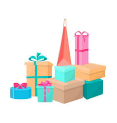 presents and bags collection vector image