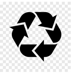 recycling logo icon recycled black sign isolated vector image