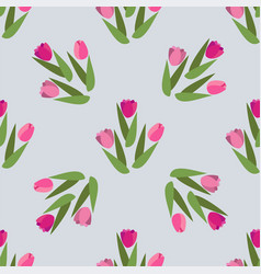 romantic hand drawn background with tulips vector image