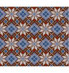 Seamless knitted scandinavian sweater pattern vector