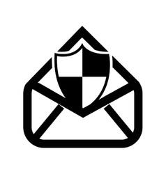security email setup isolated icon design vector image