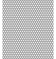 Sexangular stars pattern vector