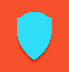 shield sign whitish icon on vector image