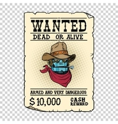 Steampunk robot cowboy wild West bandit alive or vector image