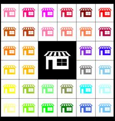 store sign felt-pen 33 vector image