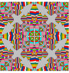 striped colorful ethnic style seamless pattern vector image