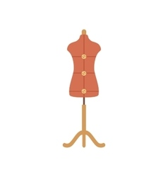 Tailor mannequin flat icon vector image