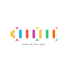 three million subscribers baner colorful logo for vector image