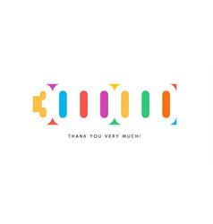 three million subscribers baner colorful logo vector image
