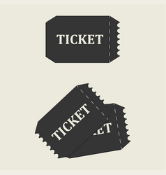 tickets set icon vector image