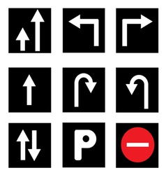 Traffic Sign Collections vector