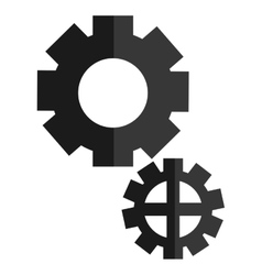 two simple gears vector image