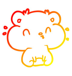 Warm gradient line drawing hamster with full vector