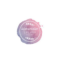 Watercolor splash logo idea vector