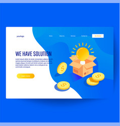 we have solution idea concept vector image