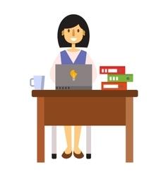 Woman working vector