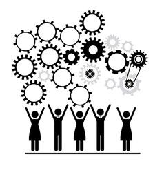 Workforce design vector