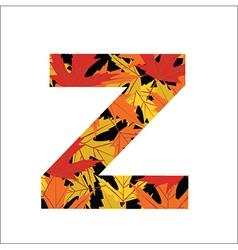 Z Letter vector