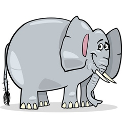 cute african elephant cartoon vector image vector image