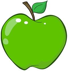 Green Apple Cartoon Character vector image