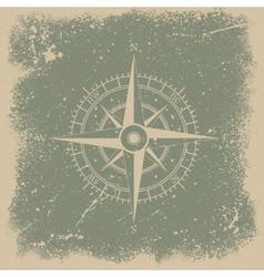 Grunge wind rose vector image